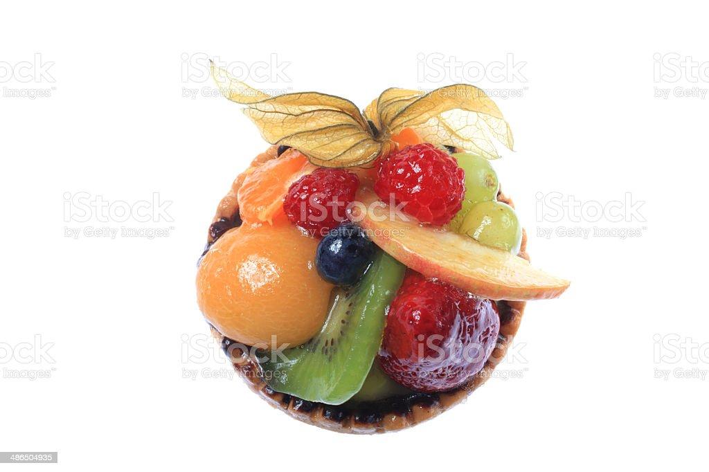 fine fruit tart cake stock photo