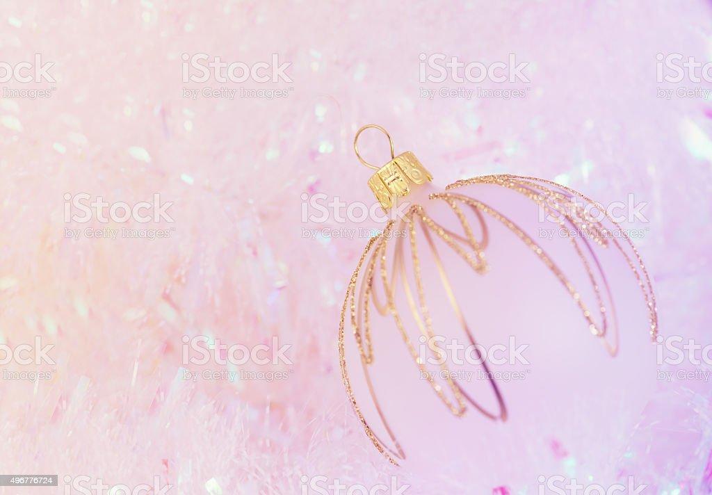 Fine Glass Christmas Ornament stock photo