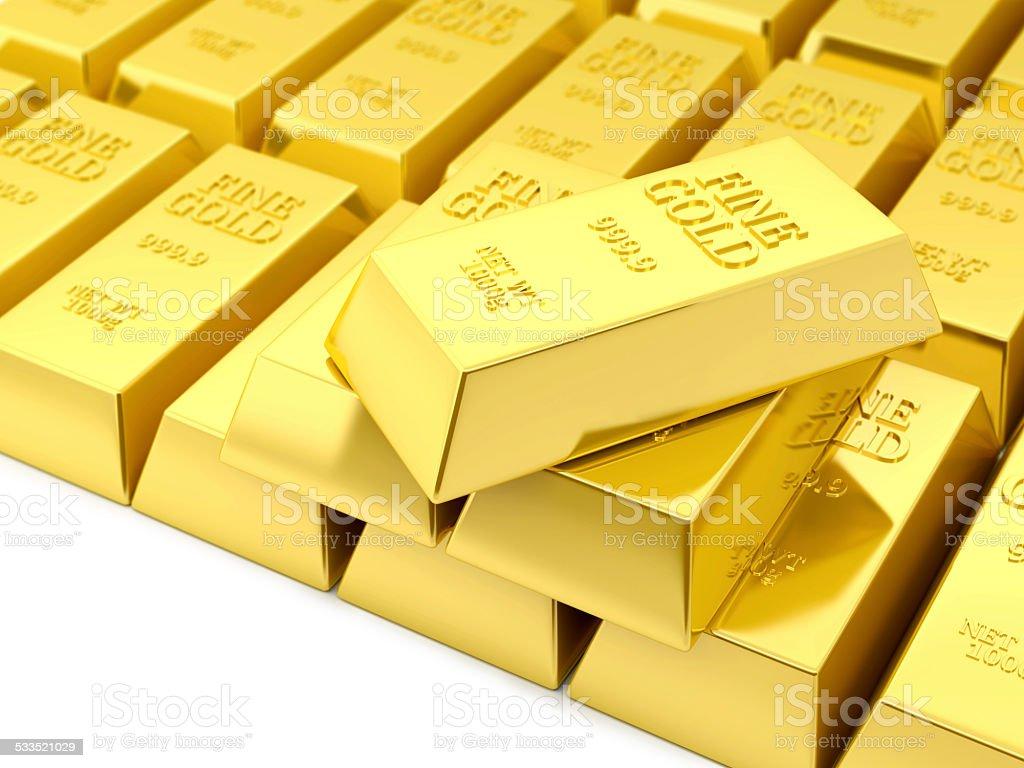 Fine Gold Bars Background stock photo