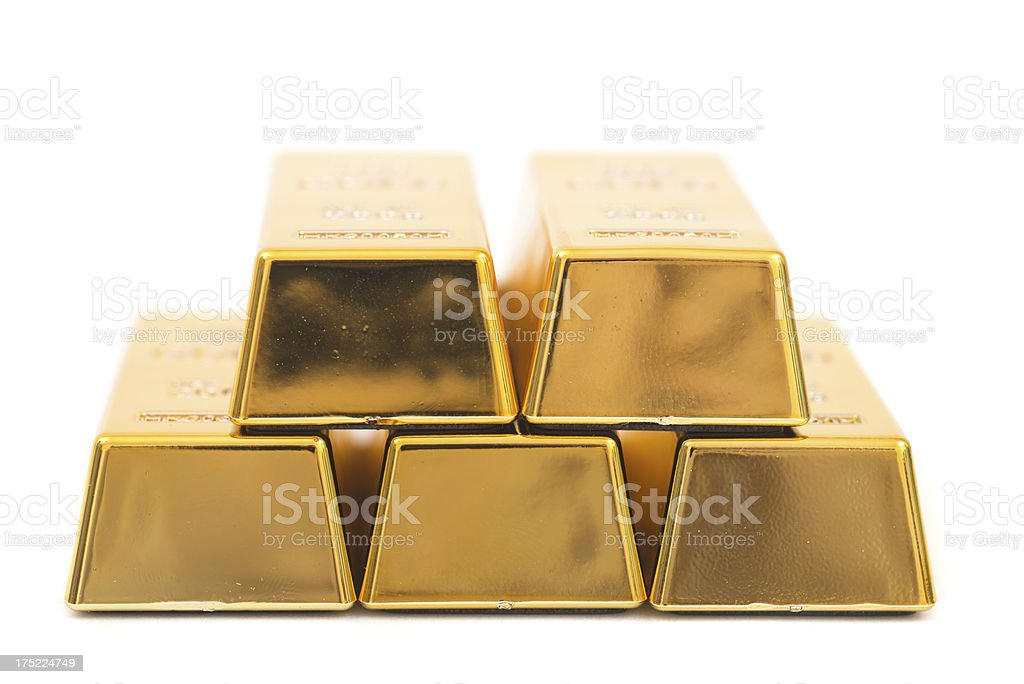 Fine gold - bullions stock photo