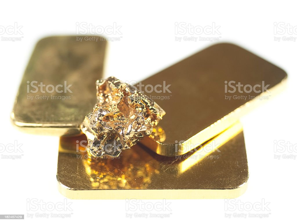 fine gold Echtgold 24 Karat stock photo