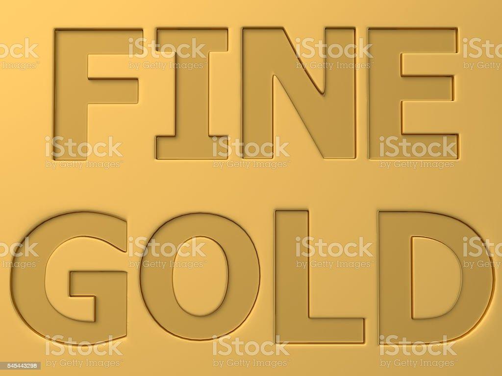 Fine Gold stock photo