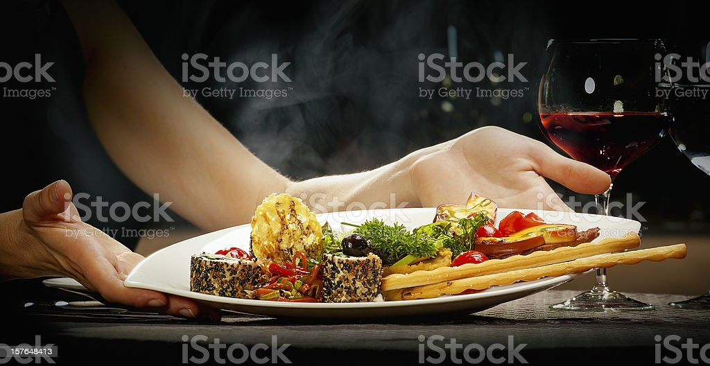 Fine gourmet serving royalty-free stock photo