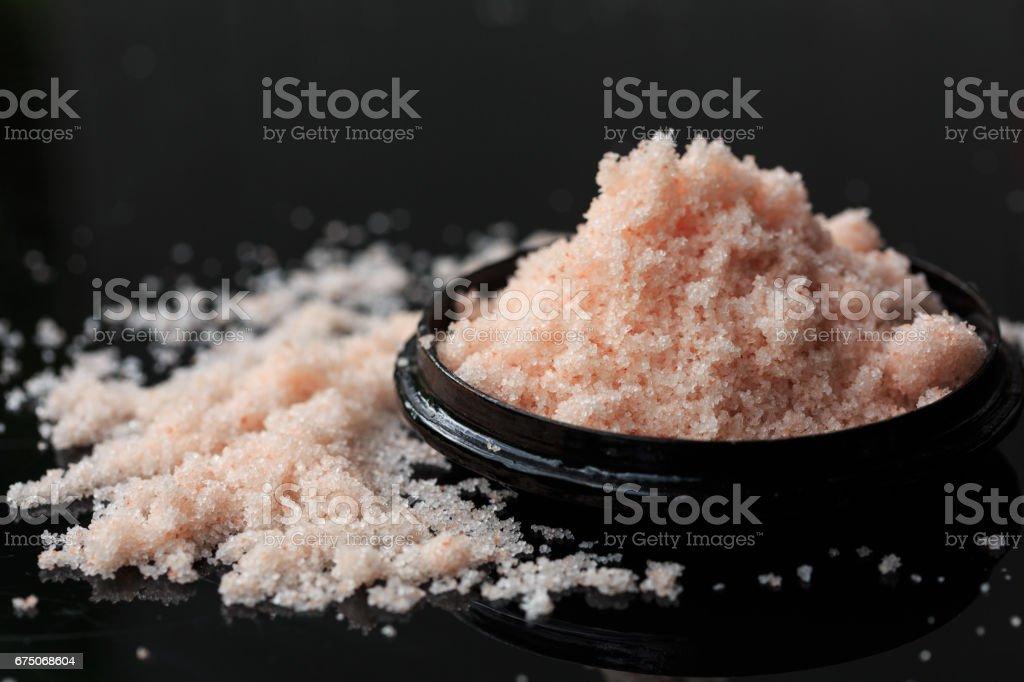 Fine grain pink salt stock photo