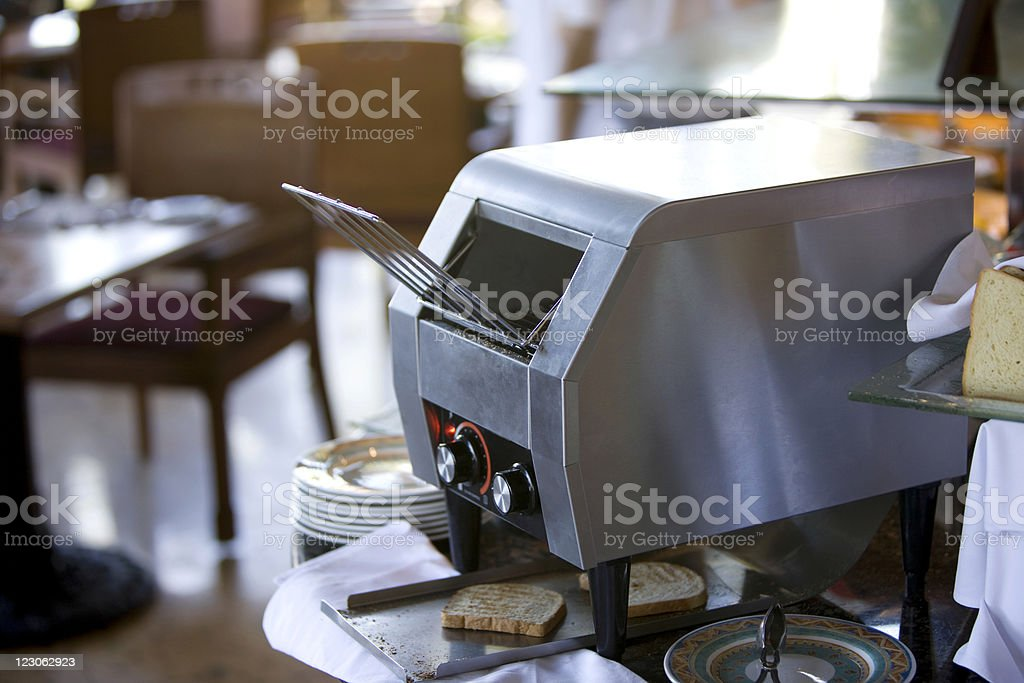 Fine gray toaster royalty-free stock photo