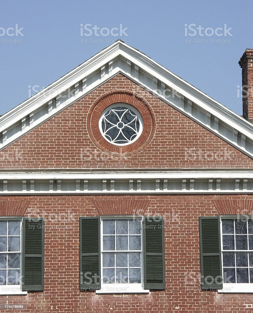 Fine Old Brick House royalty-free stock photo