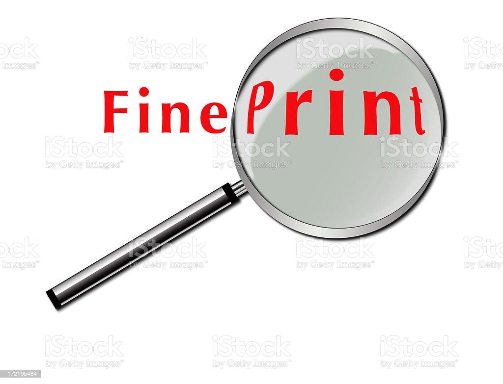 Fine Print royalty-free stock photo