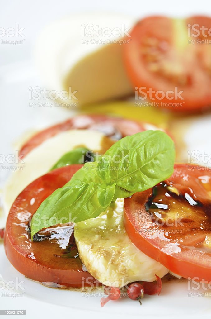 Fine salad of tomato and mozzarella royalty-free stock photo