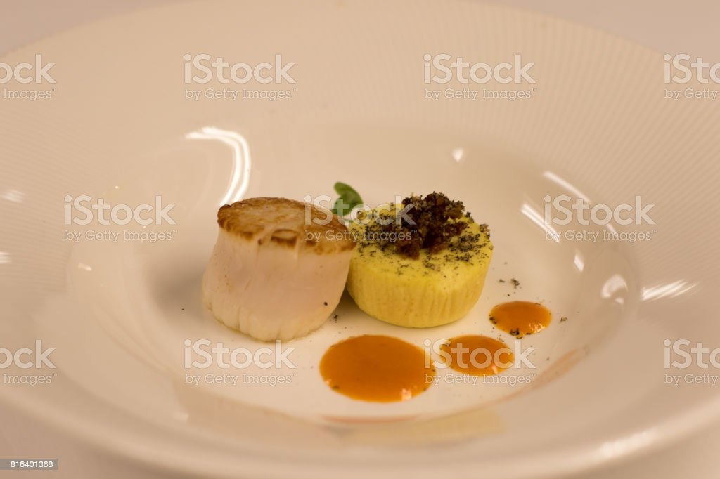 fine scallops stock photo