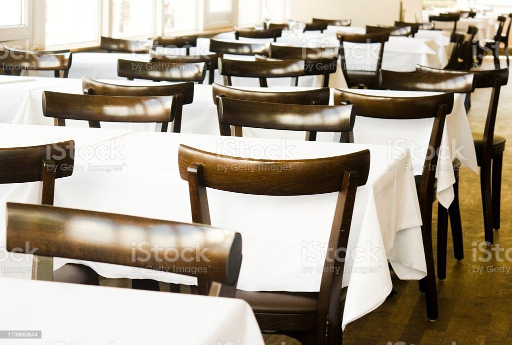 Fine table setting in a restaurant royalty-free stock photo
