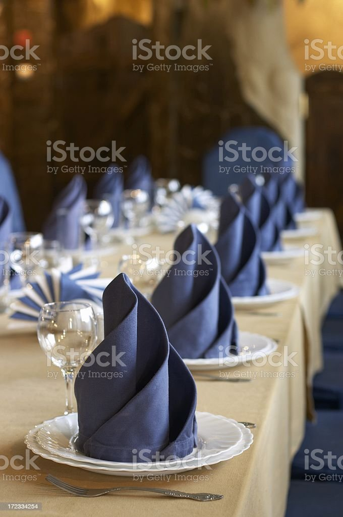Fine table setting in gourmet restaurant stock photo
