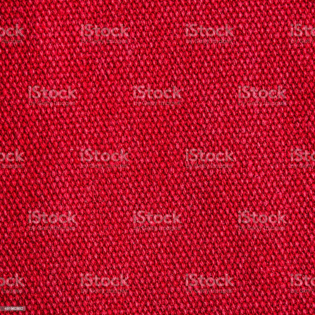 Fine woven red linen fabric texture background stock photo