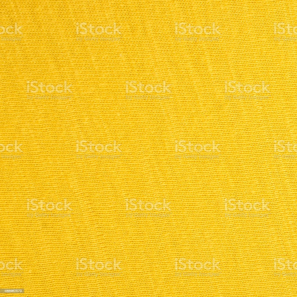 Fine woven yellow repeatable fabric texture background stock photo