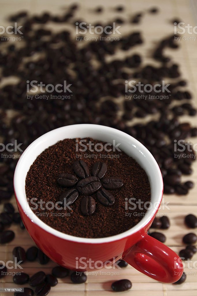 Finely Ground Coffee. royalty-free stock photo