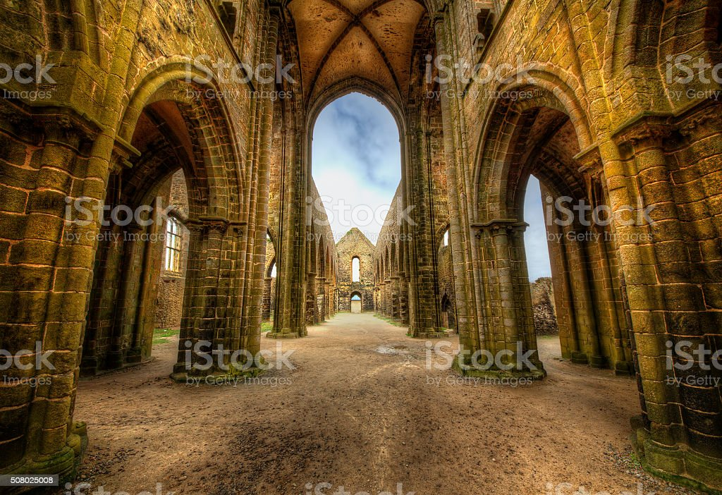 Abbaye Saint-Mathieu de Fine-Terre, Brittany stock photo