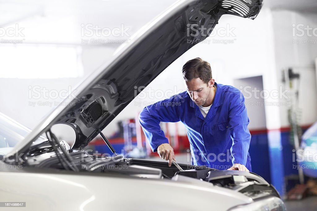 Fine-tuning this engine to it's full potential royalty-free stock photo