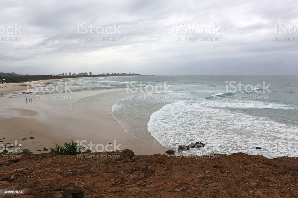 Fingal Heads north beach looking to Coolangatta royalty-free stock photo
