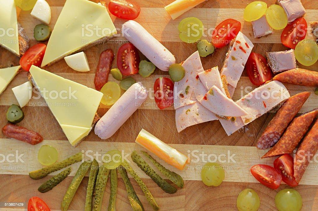 Finger food for children stock photo