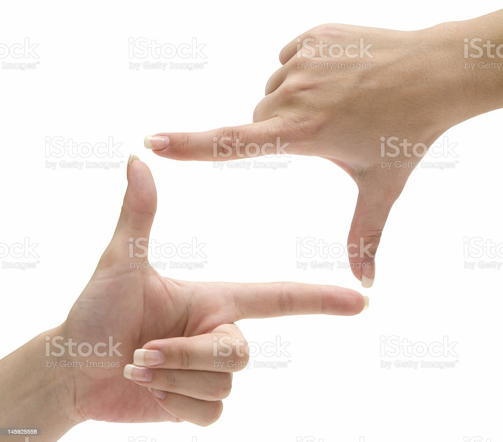 Finger Frame stock photo