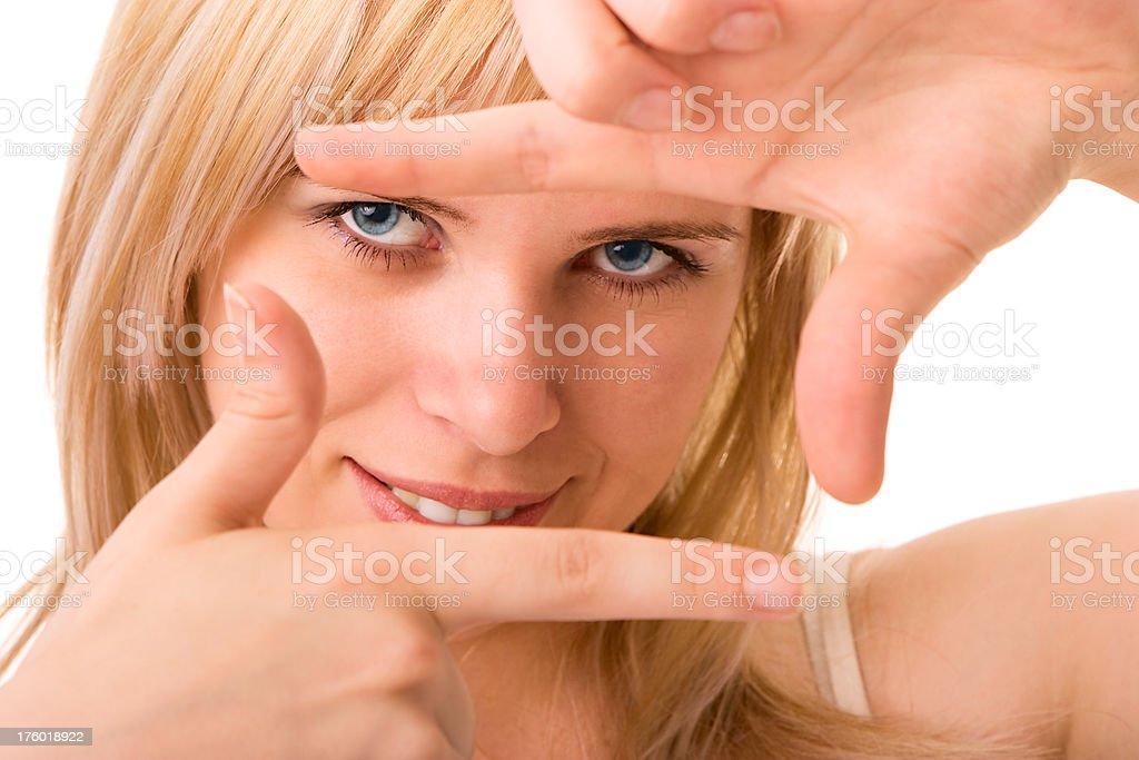 Finger frame royalty-free stock photo