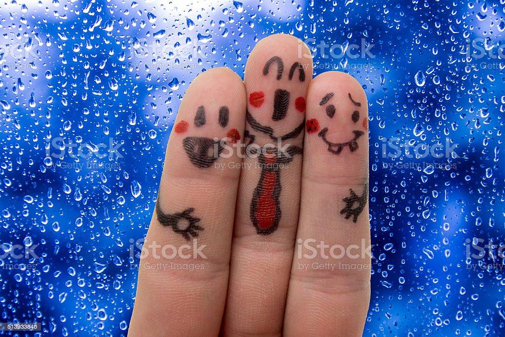 finger friends stock photo