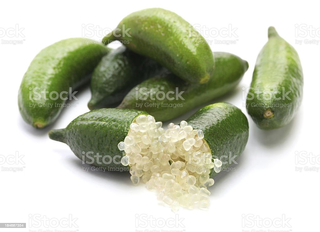 finger lime stock photo