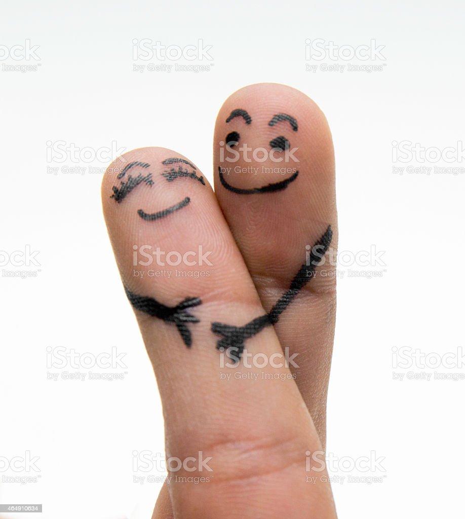 finger lovers stock photo