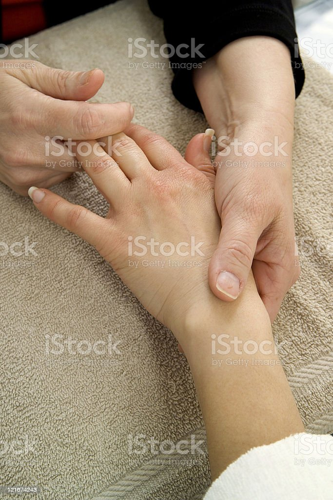 Finger Massage stock photo