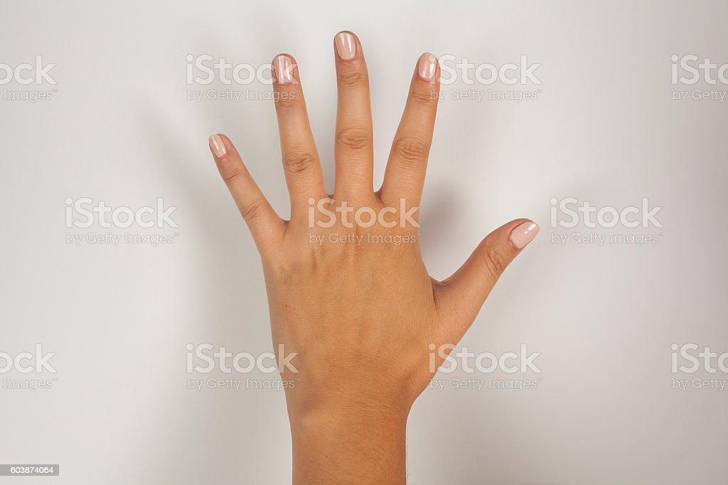 Finger Moving stock photo