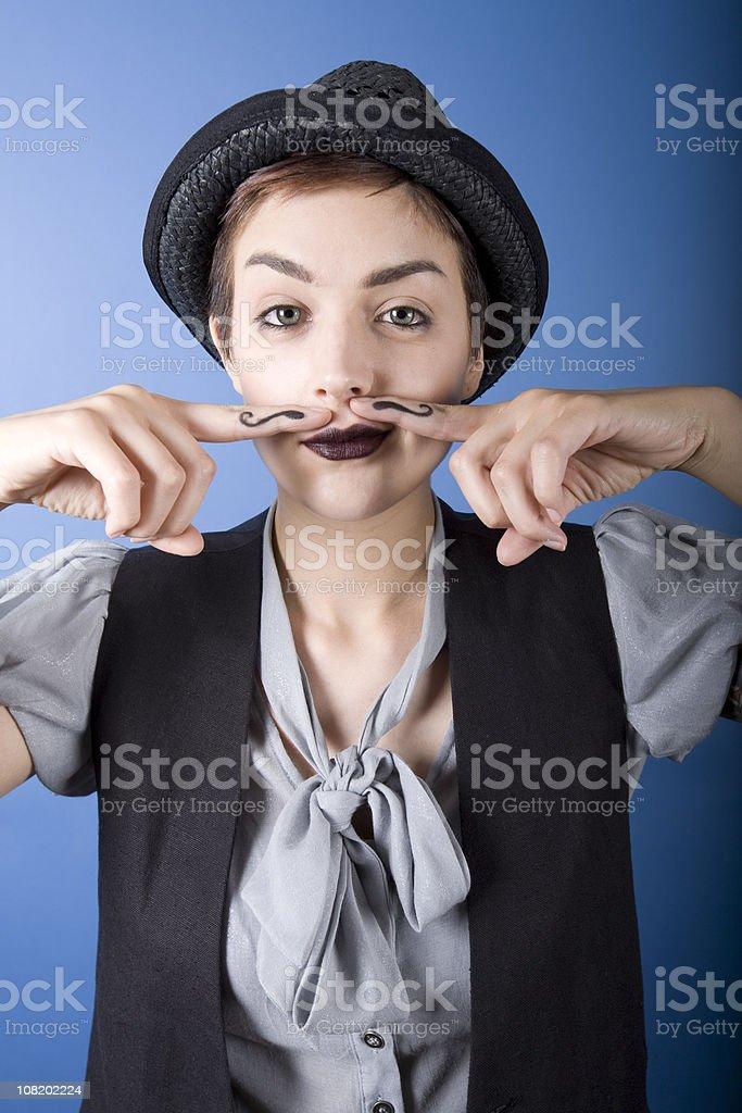 Finger Mustache royalty-free stock photo