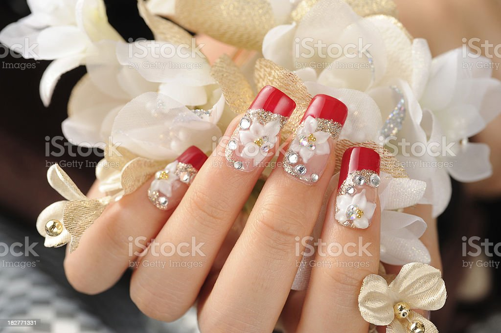 Finger nail royalty-free stock photo