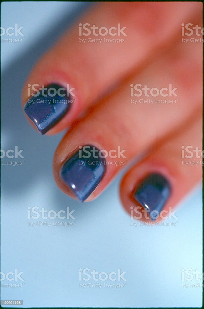 Finger nails royalty-free stock photo