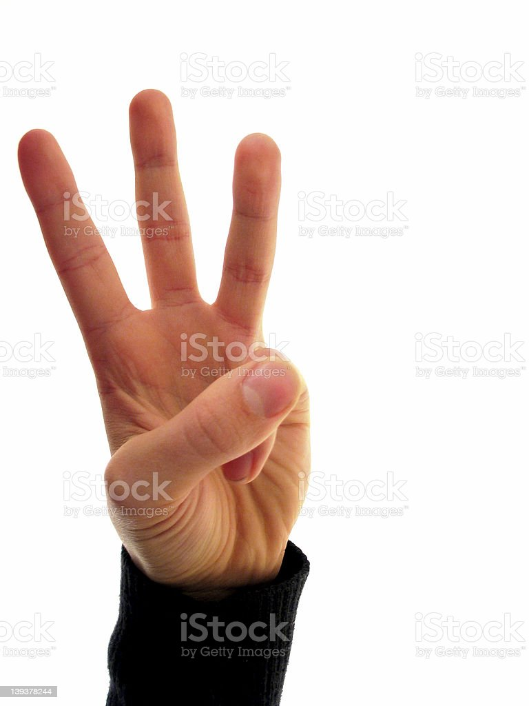 finger number 3 (series) royalty-free stock photo
