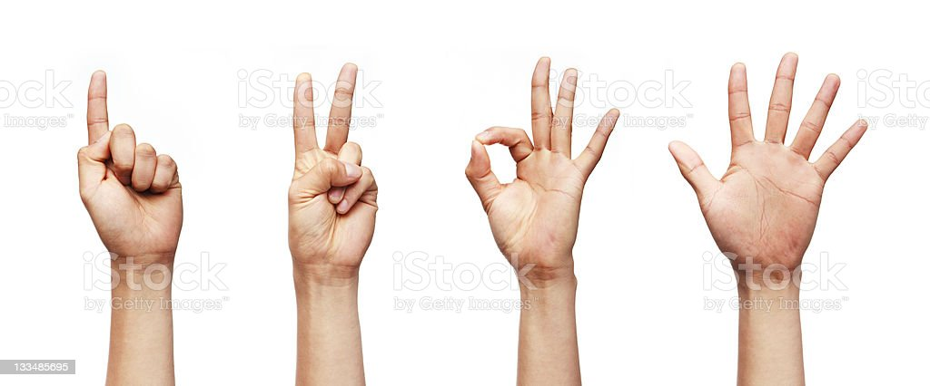 Finger Numbers royalty-free stock photo