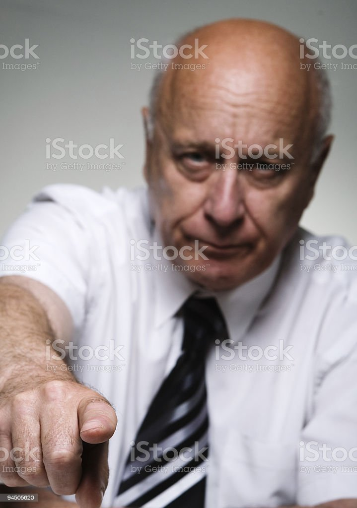 Finger of chief royalty-free stock photo
