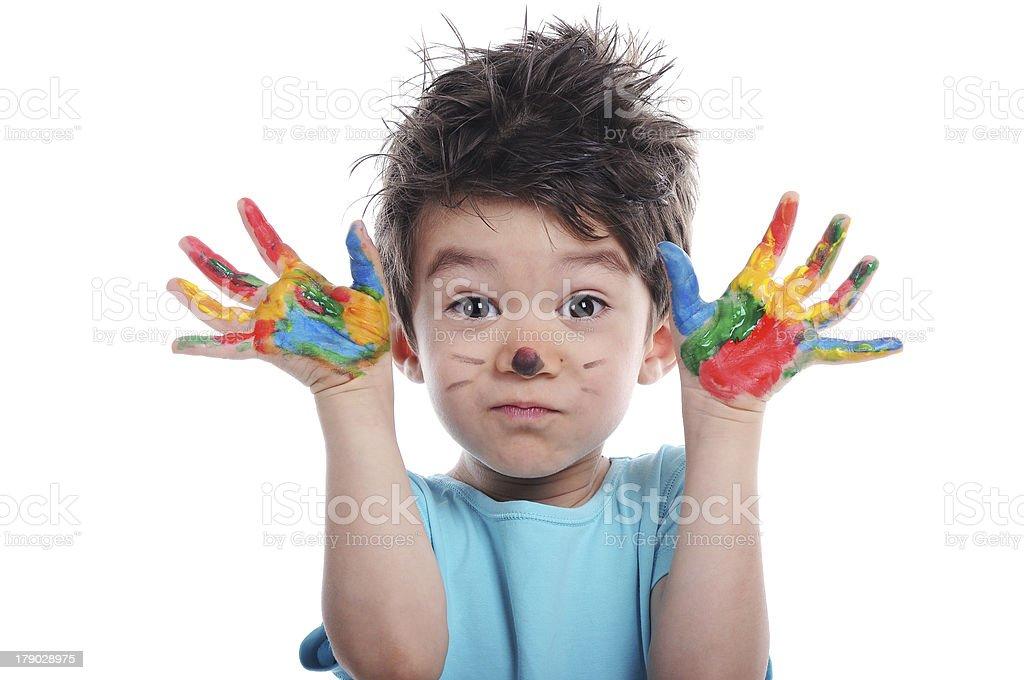 Finger paint stock photo