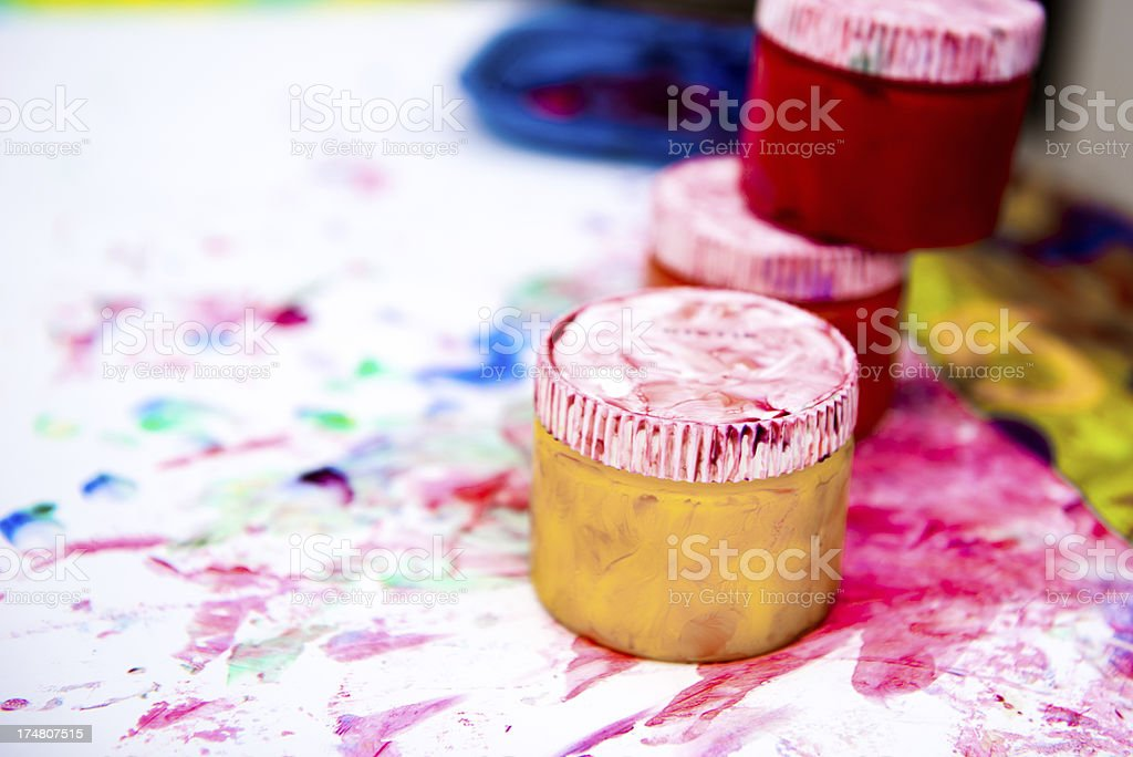 Finger Painting royalty-free stock photo