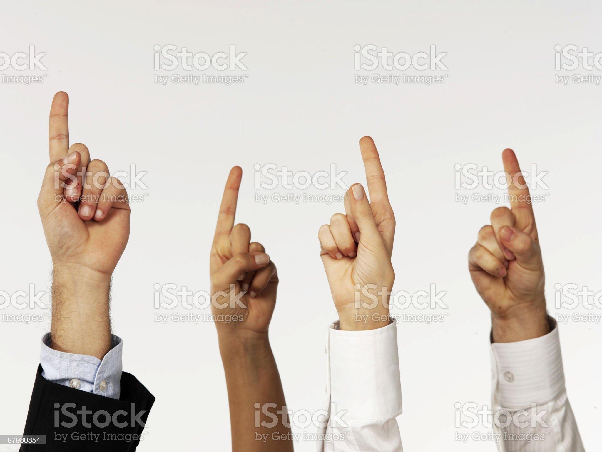 Finger royalty-free stock photo