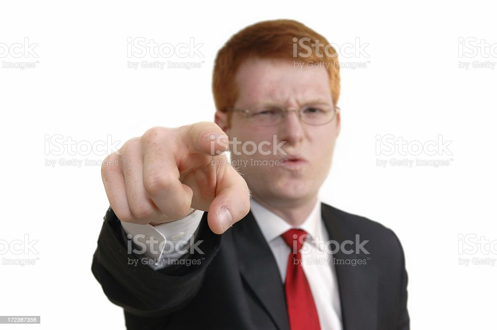 Finger Pointer royalty-free stock photo