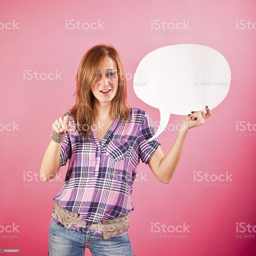 Finger Pointing royalty-free stock photo