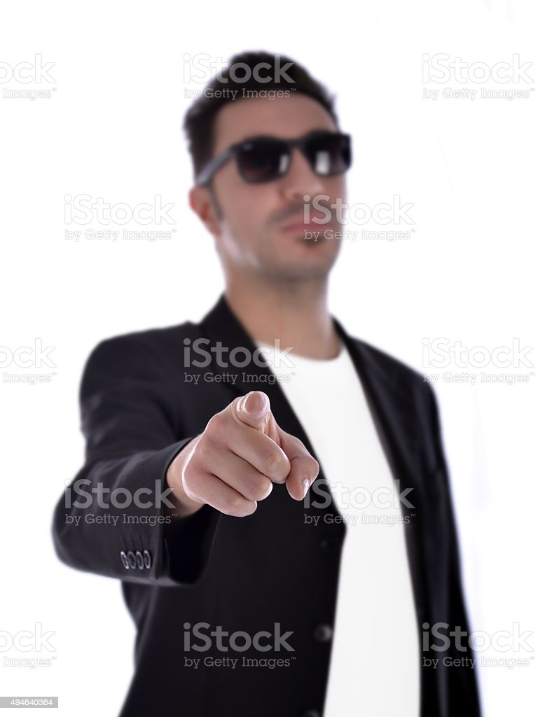 finger pointng choose stock photo