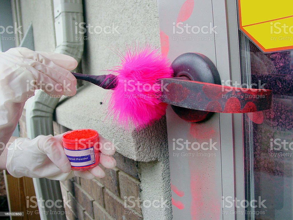 Finger print dusting royalty-free stock photo