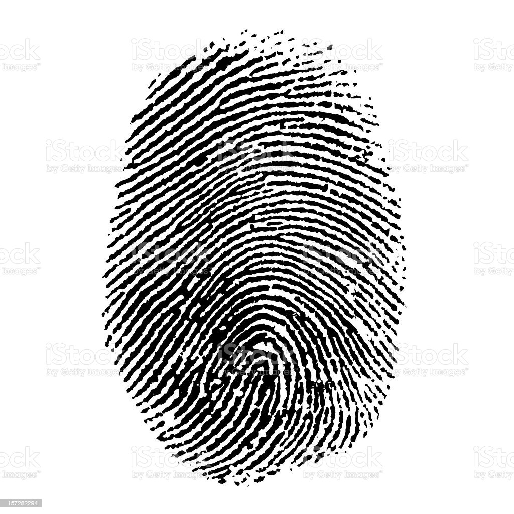 Finger Print stock photo