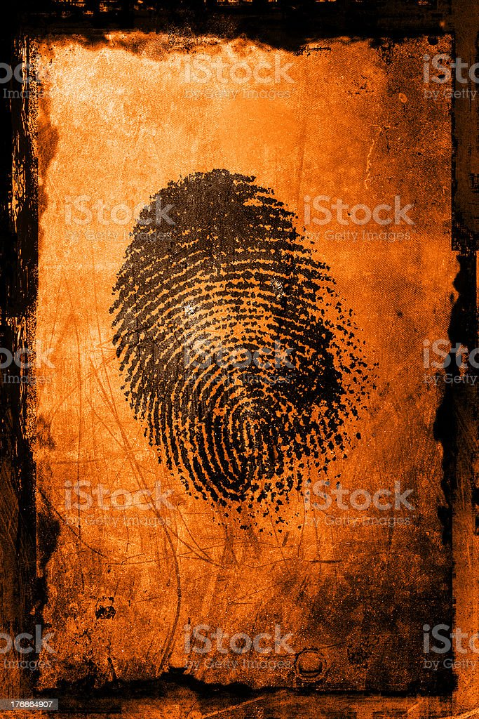 Finger Print royalty-free stock photo