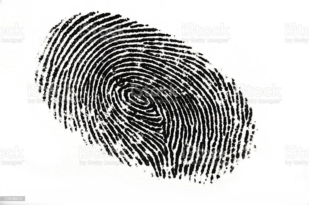 Finger Print stock photo