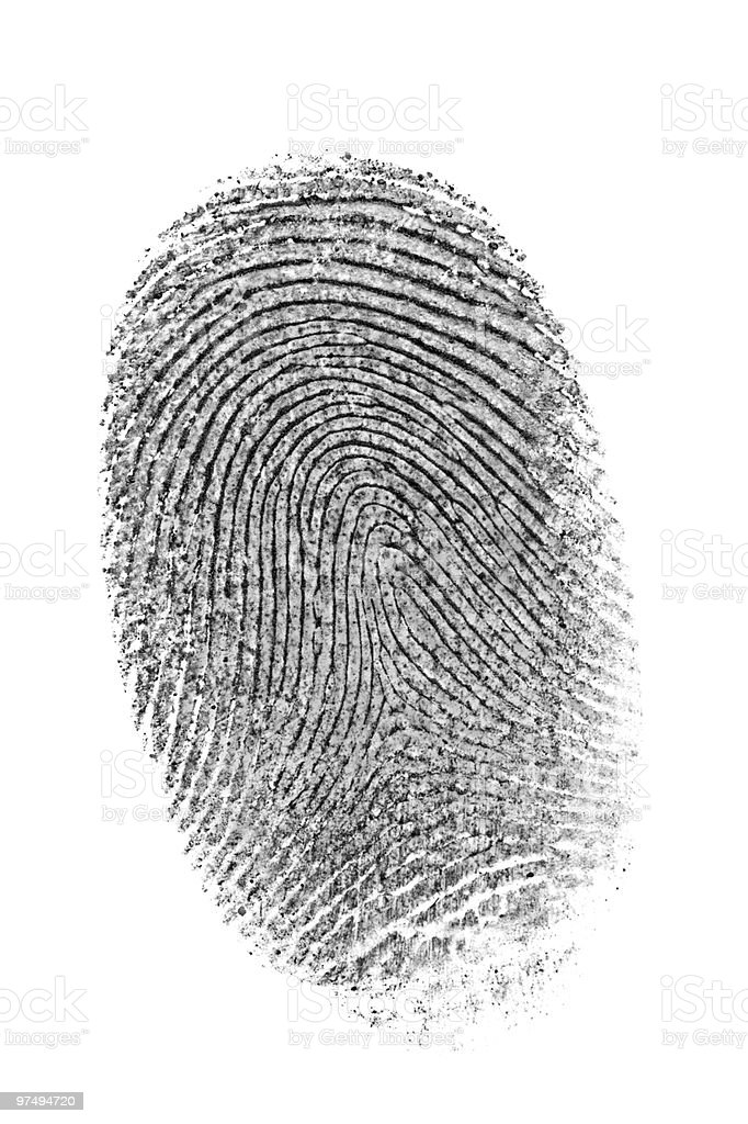 Finger print. royalty-free stock photo