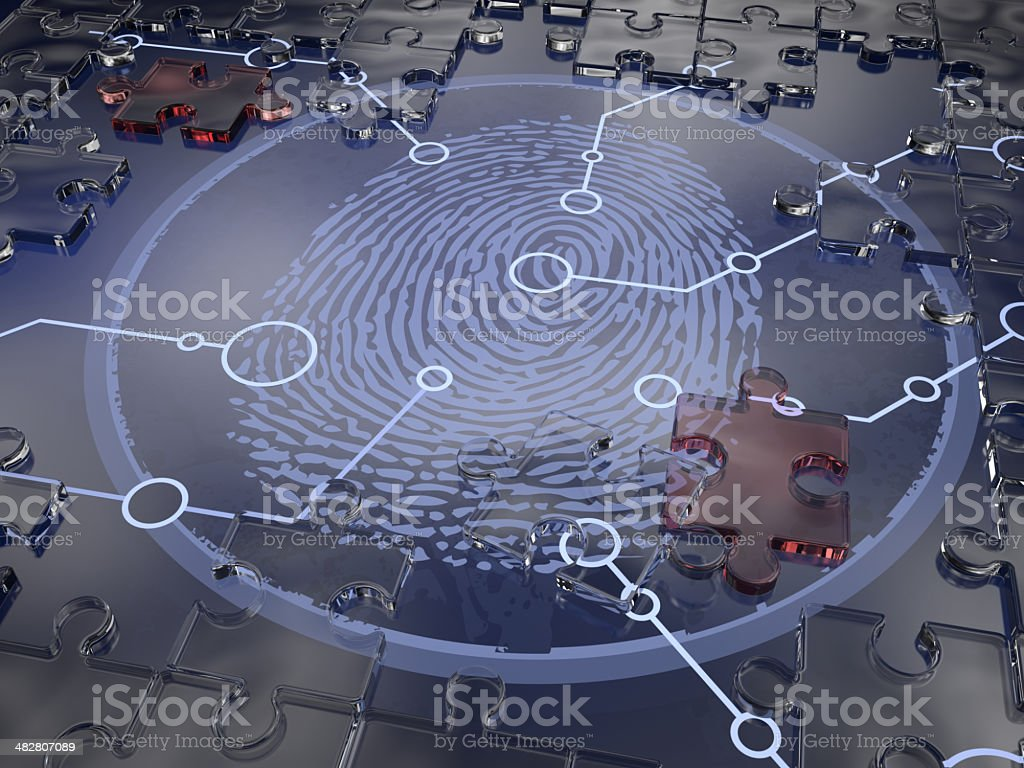 Finger Print Puzzle stock photo