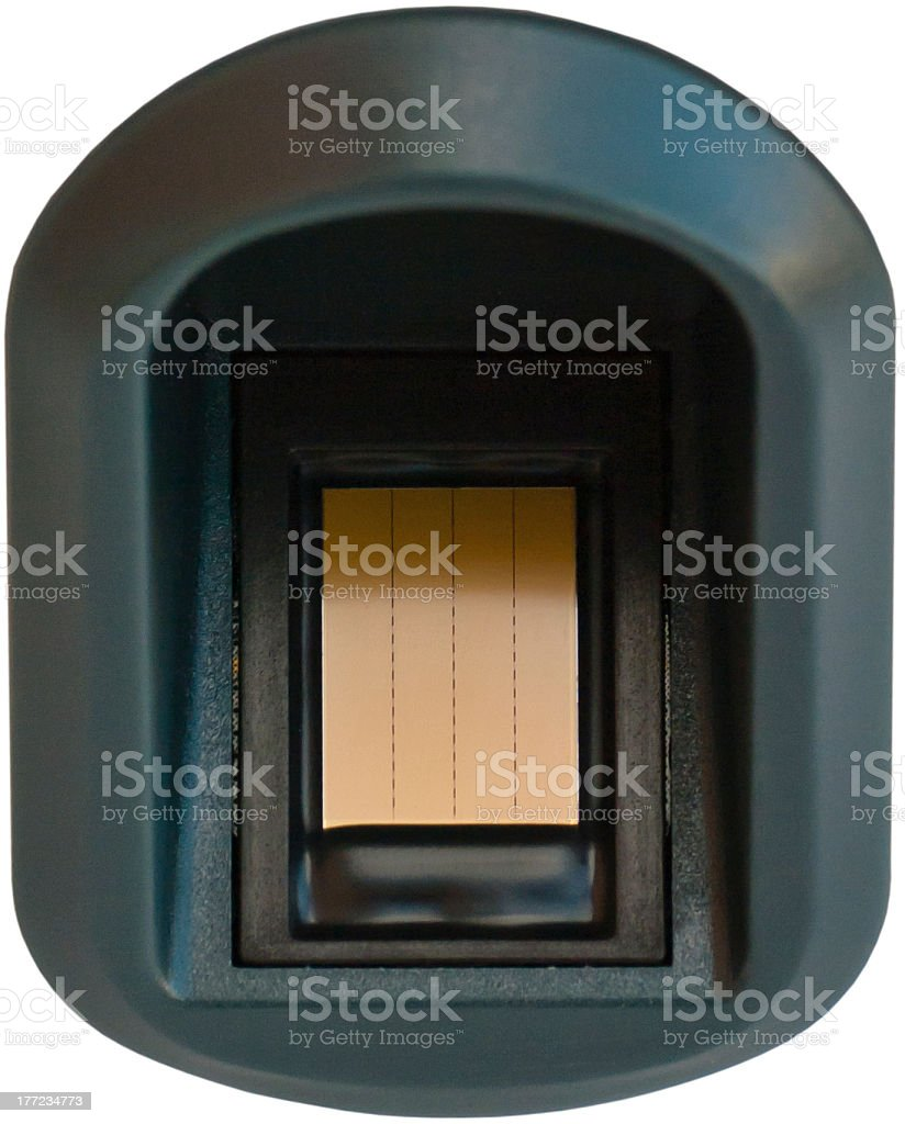 Finger print scanner royalty-free stock photo
