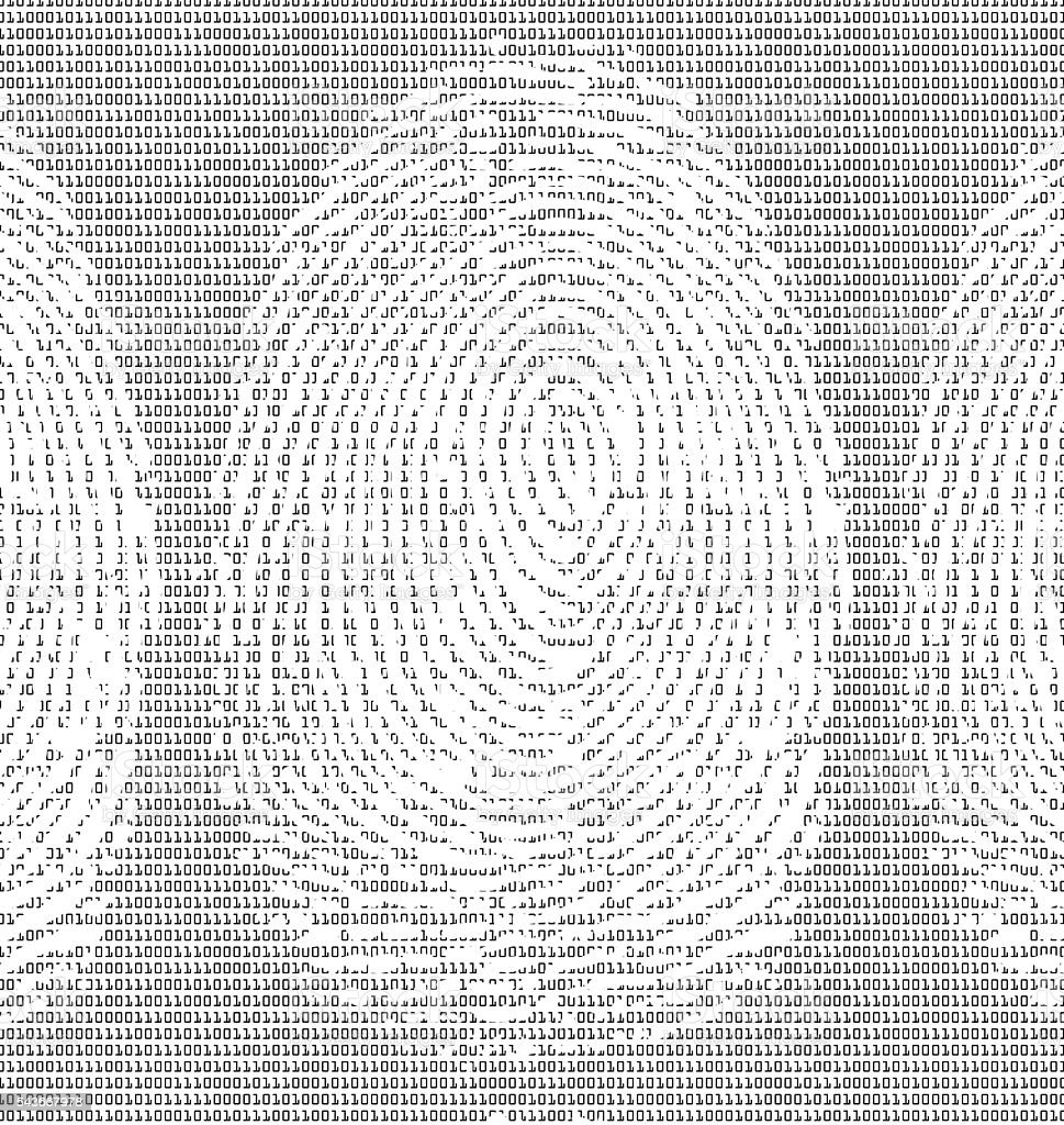 Finger Print with Binary Code stock photo