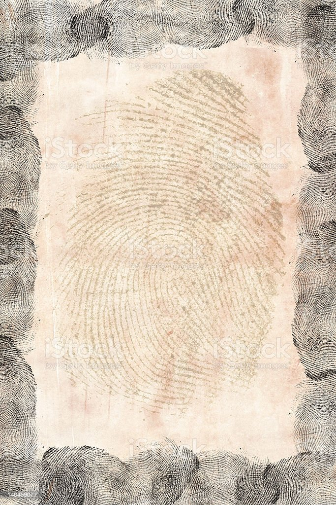Finger prints on paper royalty-free stock photo